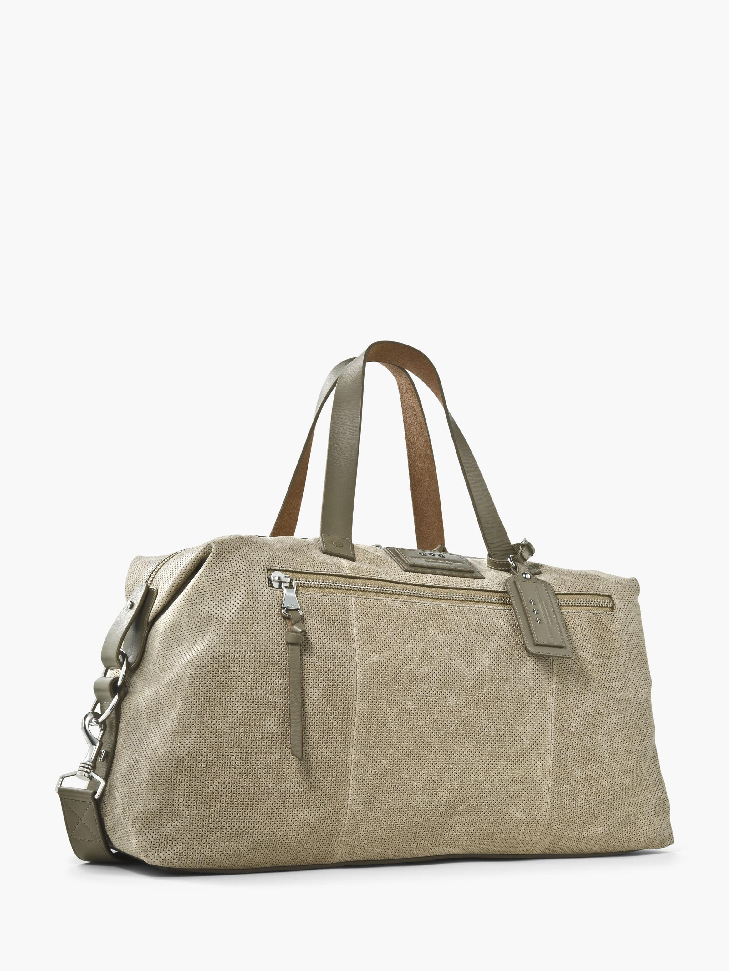 Perforated Suede Duffle