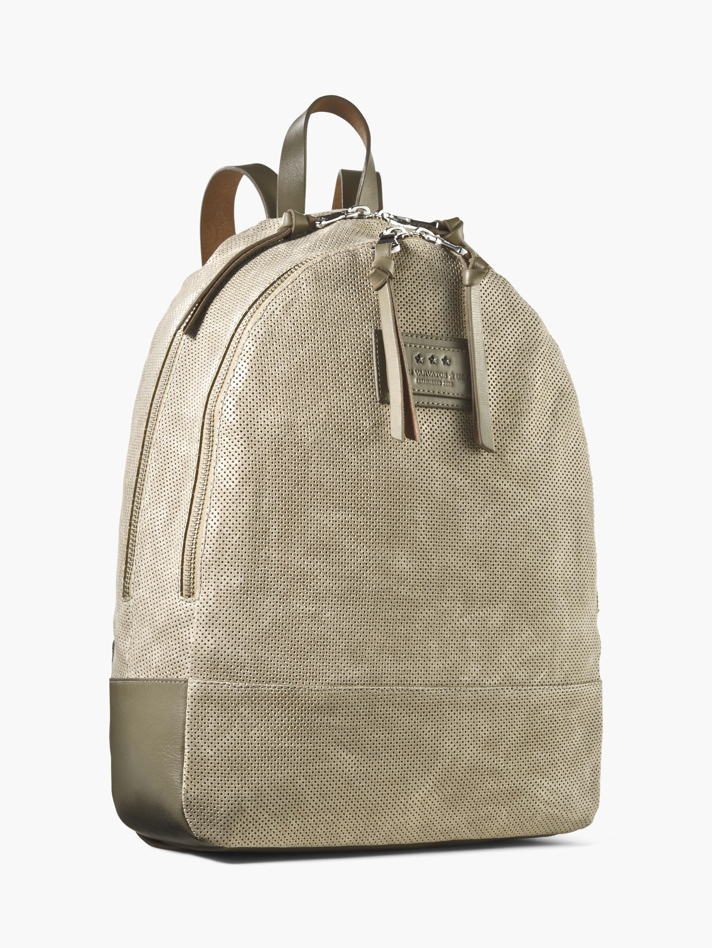 Perforated Suede Backpack