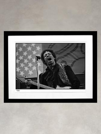 Jimi Hendrix by Larry Hulst