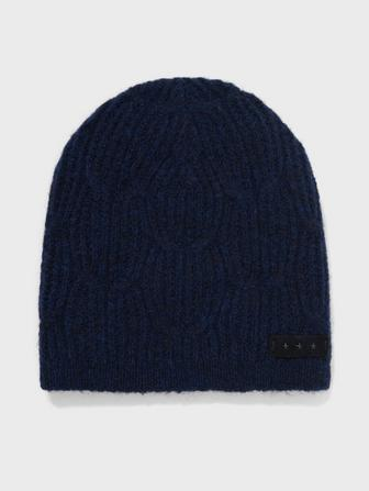 Cable Beanie In Brushed Boucle