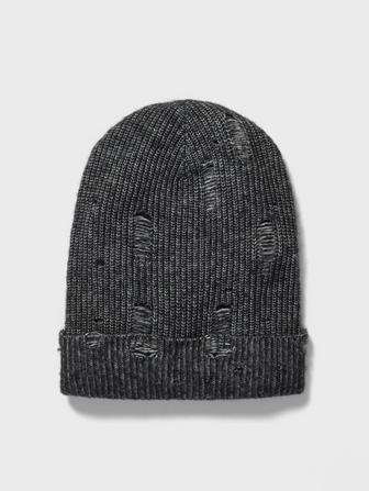 SLOUCHY FIT BEANIE WITH DROP NEEDLE