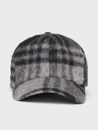 Plaid Felted Baseball Hat