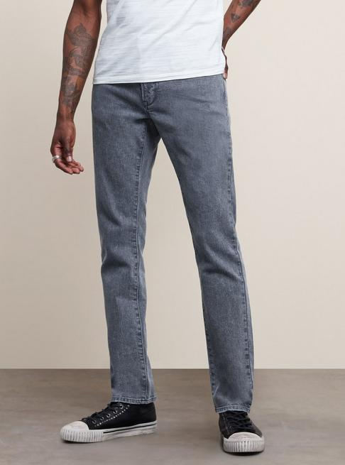 John Varvatos BOWERY SLIM STRAIGHT FIT JEANS in NATE WASH