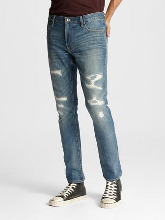 MATCHSTICK FIT JEAN -RIVER WASH