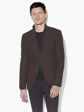 BLEEKER MARLED WOOL-SILK SPORT COAT