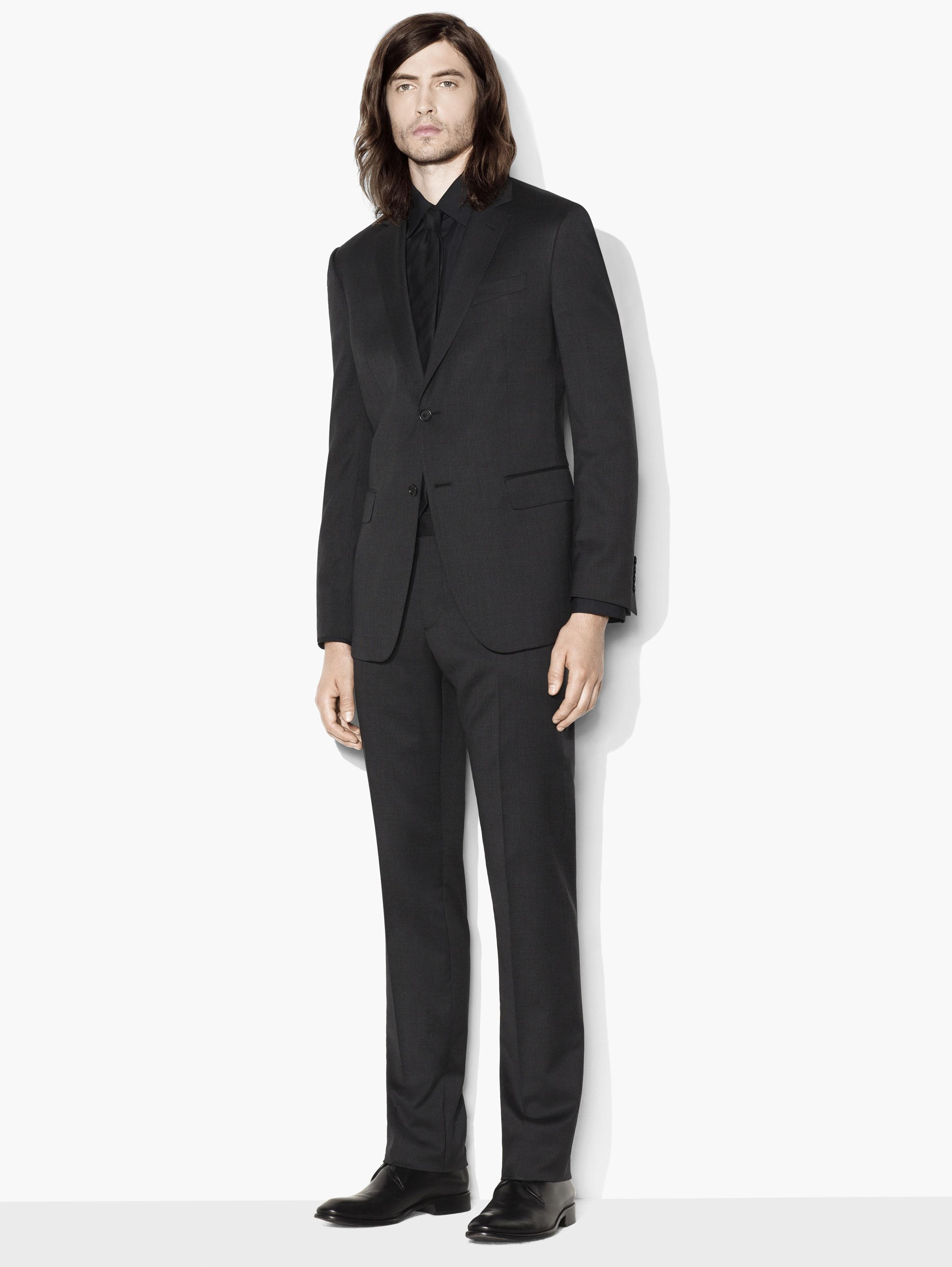 Hampton Micro Check Suit