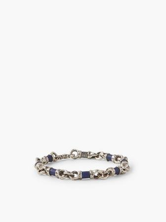 Linked Lapis Beads Bracelet