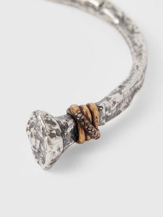 Silver & Brass Nail Cuff