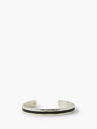 Leather & Silver Cuff