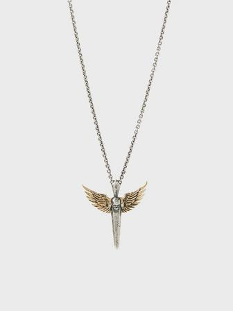 Winged Skull Dagger Necklace