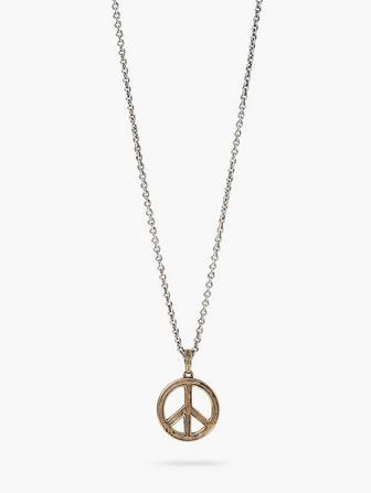 Brass Peace Necklace