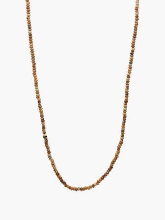 Brass & Jasper Beaded Necklace