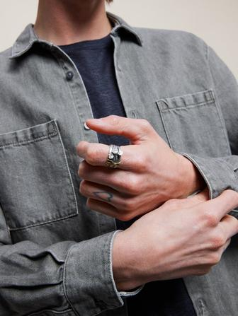 Sterling Silver Nails Ring