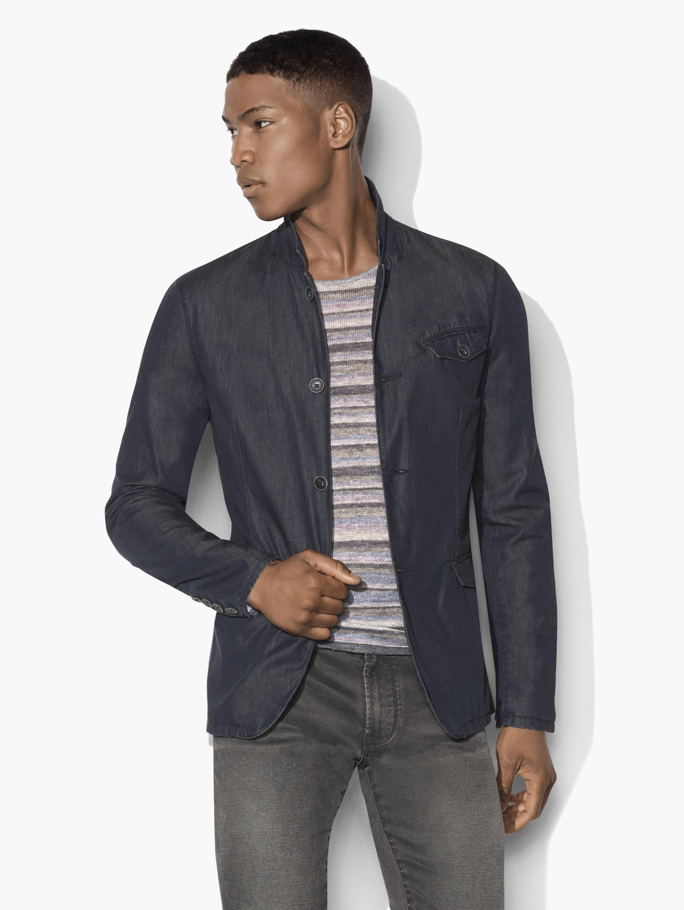 Indigo Chambray Jacket