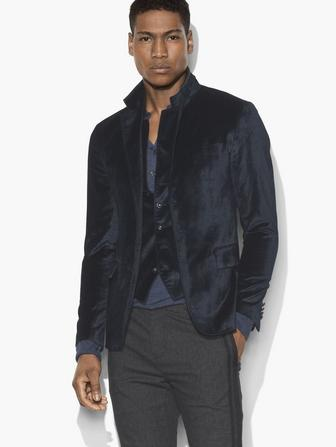 MULTI-BUTTON VELVET JACKET