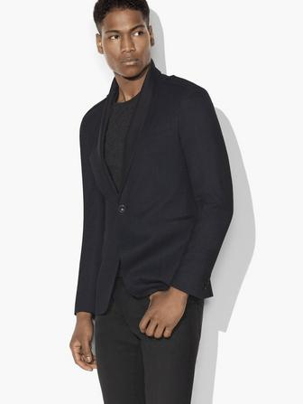 SATIN SHAWL COLLAR JACKET
