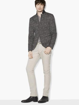 JACQUARD HOOK & BAR JACKET