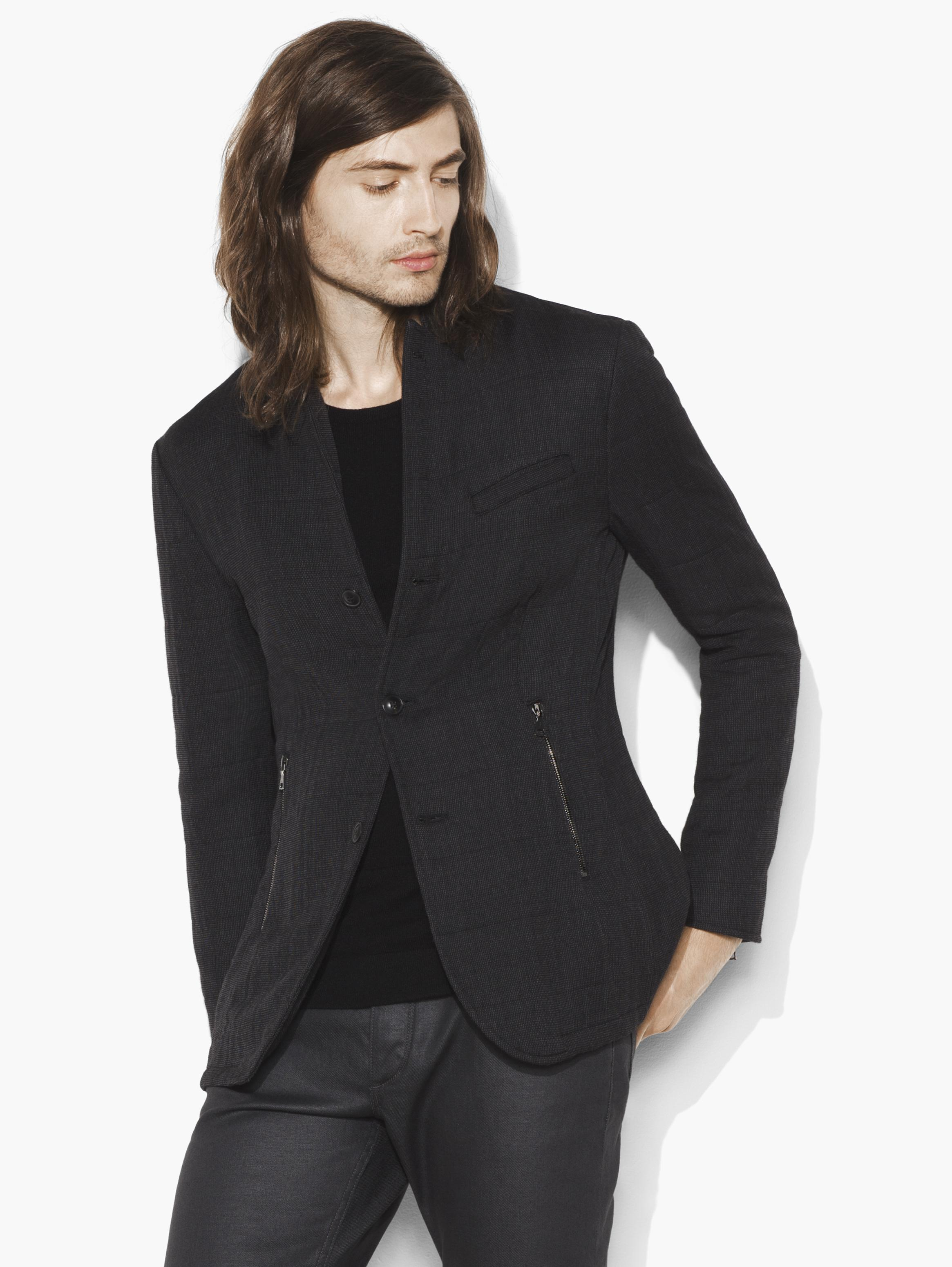 Wool Notch Lapel Jacket