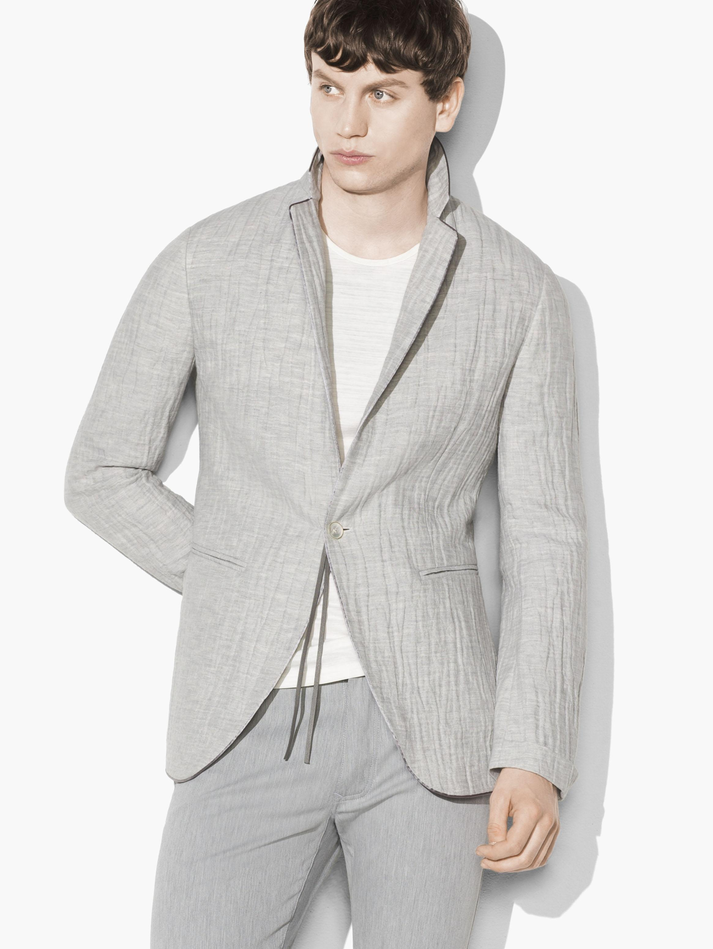 Crinkled Single-Button Jacket