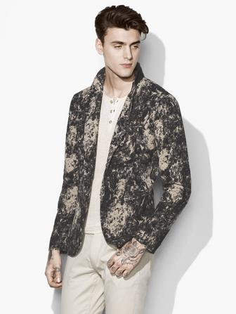 MARBLED JACQUARD JACKET