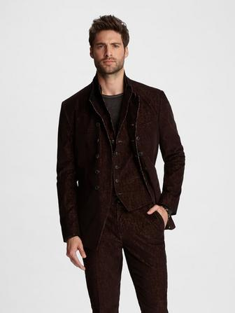 CORDUROY DOUBLE-BREASTED JACKET