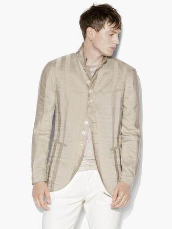PANELED MULTI-BUTTON JACKET