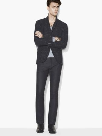 RAW EDGE PEAK LAPEL JACKET