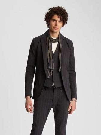 ASYMETRIC ONE BUTTON JACKET