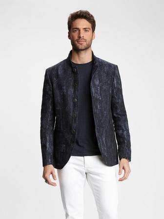 JACQUARD MULTI-BUTTON JACKET