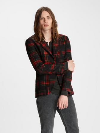 PLAID JACQUARD JACKET