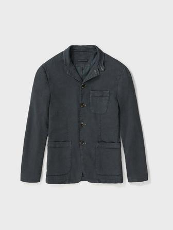 Garment Dyed Notch Lapel Jacket