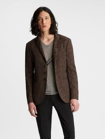 SLIM FIT MULTI BUTTON NOTCH LAPEL JACKET
