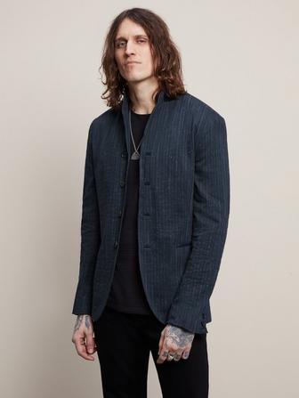 SLIM FIT CONVERTIBLE LAPEL JACKET