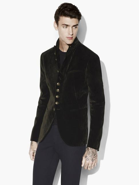 Velvet Multi-Button Soft Jacket