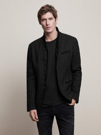 SLIM FIT PINSTRIPE SOFT JACKET