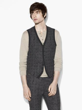 ABSTRACT JACQUARD VEST
