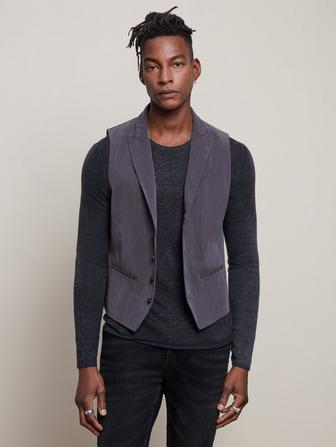 SLIM FIT PEAK LAPEL VEST