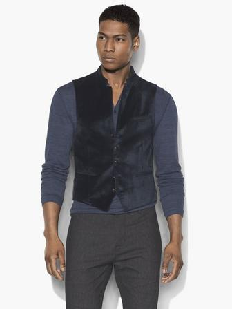 MULTI-BUTTON VELVET VEST