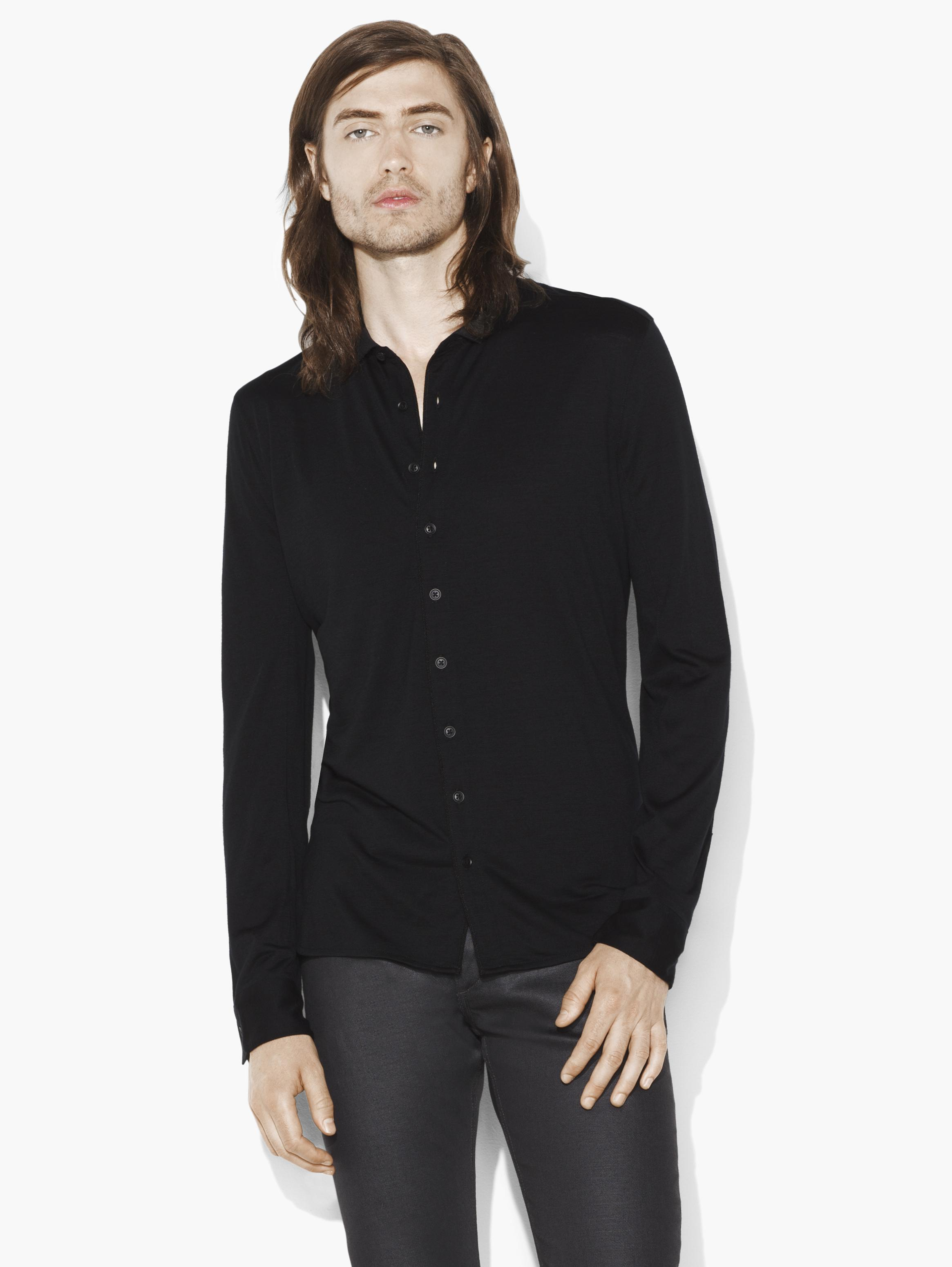 Merino Wool Button-Up Shirt