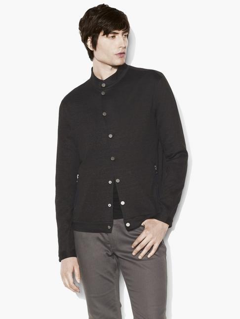 Snap-Front Shirt Jacket