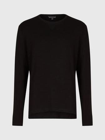 Long Sleeve Pima Cotton Crew Neck