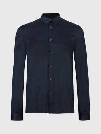 REGULAR FIT SHIRT WITH PIPING DETAIL