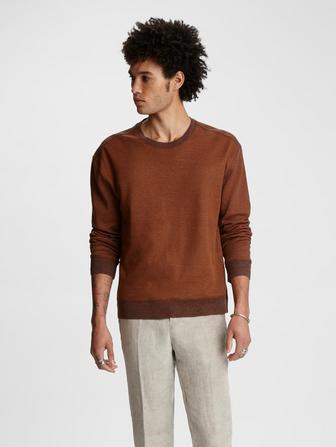Cotton-Linen Crewneck