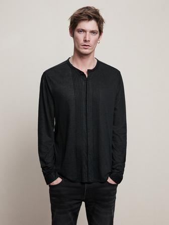 REGULAR FIT LS SHIRT WITH PIN TUCKED DETAIL