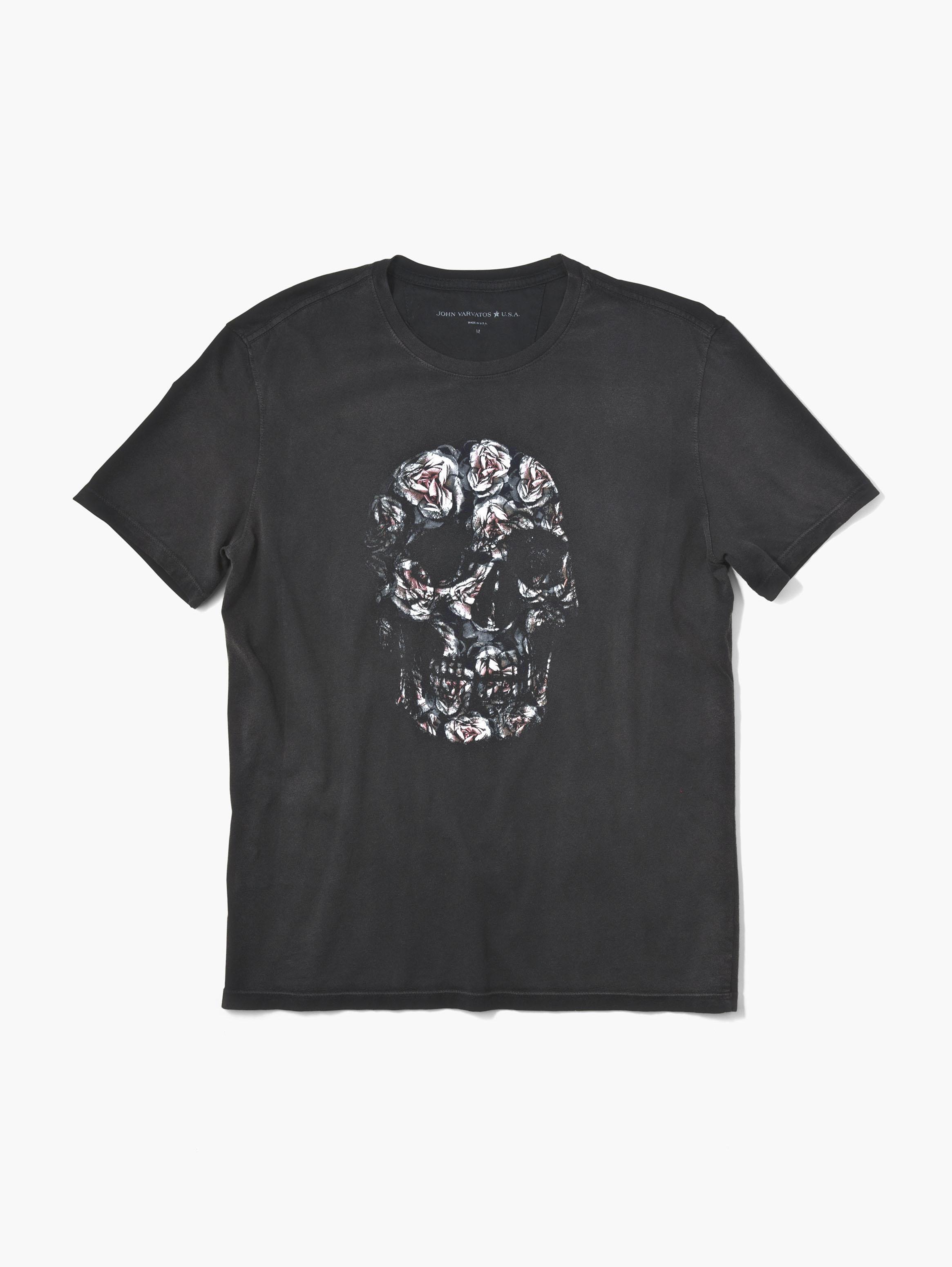 04d911028 Floral Skull Tee - John Varvatos