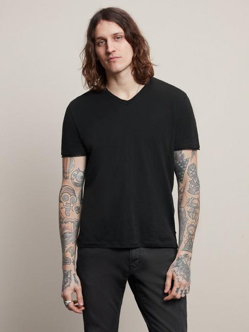 RAW EDGE V-NECK