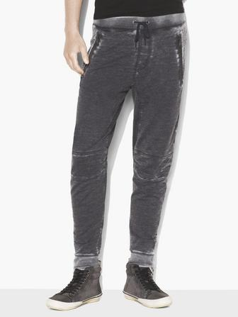 BURNOUT FRENCH TERRY BIKER PANT