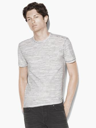 SHORT SLEEVE STRIPED CREW