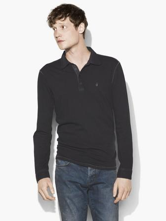 LONG SLEEVE PEACE POLO