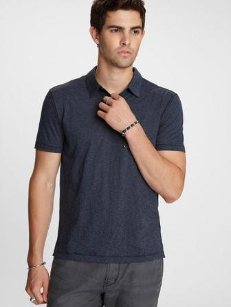 BURNOUT STRIPE POLO